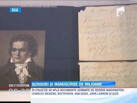 Manuscrise apartinand unor personalitati marcante, scoase la licitatie. Cat costa o scrisoare marca Thomas Jefferson