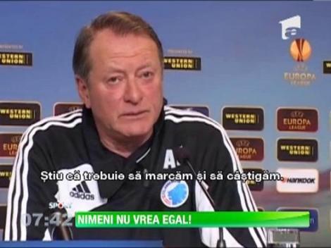 Laurentiu Reghecampf si Ariel Jacobs nu vor remiza in meciul FC Copenhaga- Steaua