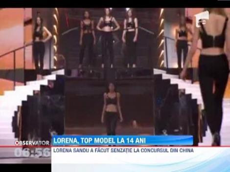 Lorena Sandu, top model la 14 ani
