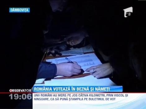Romania voteaza in bezna si nameti!