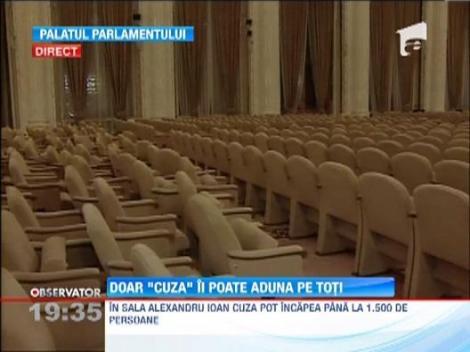 Parlamentarii au gasit o solutie la problema lipsei scaunelor din sala de sedinte