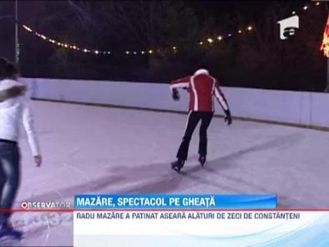 Radu Mazare a facut spectacol pe un patinoar din Constanta