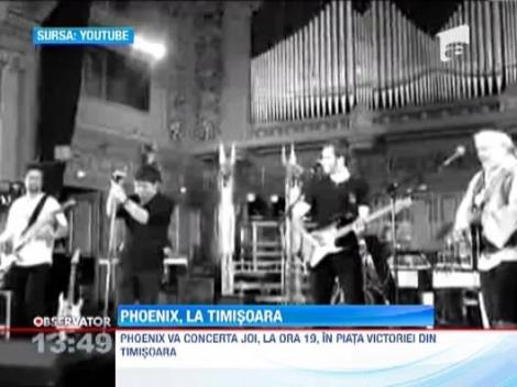 Phoenix va concerta in Piata Victoriei din Timisoara