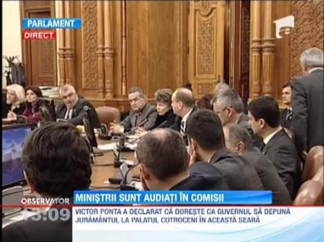 Ministrii cabinetului Ponta II sunt audiati de comisiile de specialitate ale Parlamentului