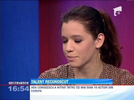 Ada Condeescu, printre cei mai buni 10 actori din Europa