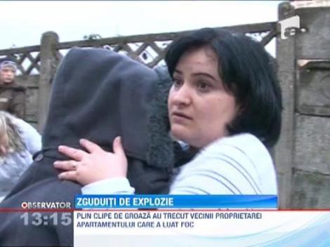 Incendiu dupa explozie intr-un apartament din Baia Mare