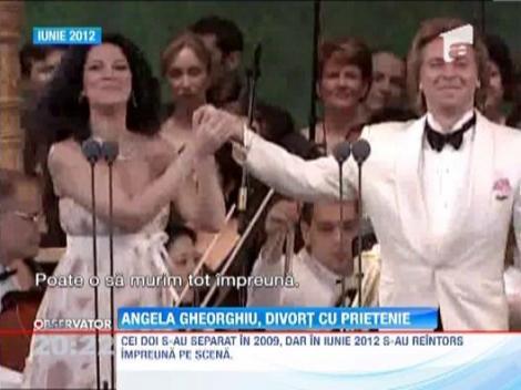 Soprana Angela Gheorghiu si tenorul Roberto Alagn, divort cu prietenie