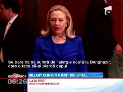 Hillary Clinton a iesit din spital