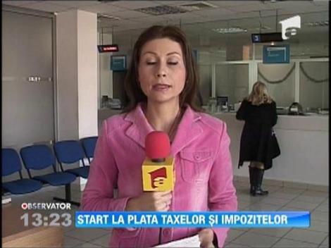 Start la plata taxelor si impozitelor