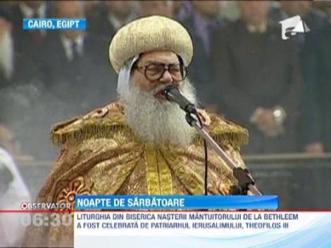 Liderii politici din Rusia, Palestina si Egipt au asistat la slujba de Craciun pe rit vechi