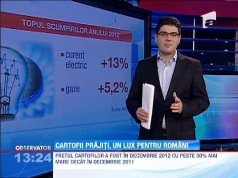 Topul scumpirilor din 2012: Cartofii, pe prima pozitie