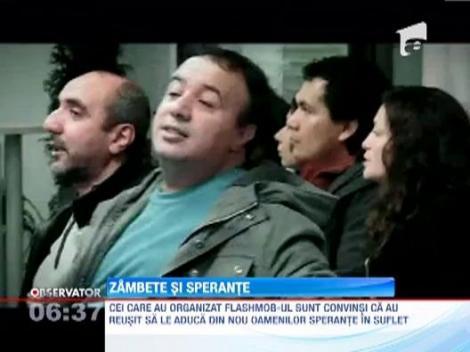 VIDEO: Flashmob muzical intr-un centru de somaj din Spania
