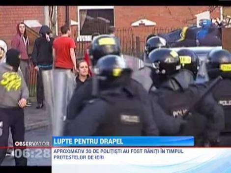 Drapelul britanic a stranit proteste violente in Irlanda de Nord