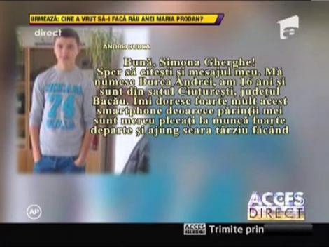 Andrei Burca a castigat un telefon mobil