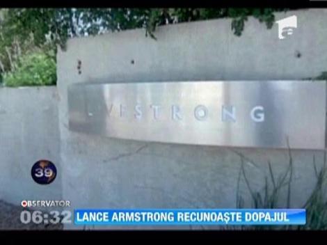 Lance Armstrong a recunoscut, pentru prima data, ca s-a dopat in timpul Turului Frantei