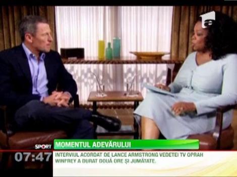 Lance Armstrong a recunoscut ca s-a dopat dupa mai bine de zece ani de negare