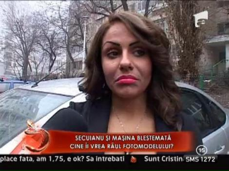 Madalina Secuianu si-a gasit masina zgariata si oglinzile furate