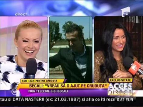 """Gigi Becali: """"Eu vreau sa o ajut pe Daniela Crudu"""""""
