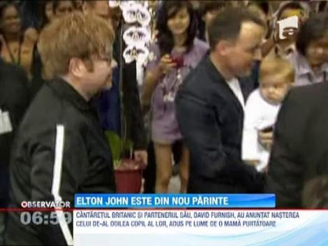 Elton John este din nou parinte