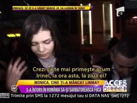 Monica Gabor s-a intors in Romania sa-si sarbatoreasca fiica