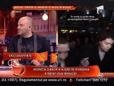 Monica Gabor a revenit in Romania