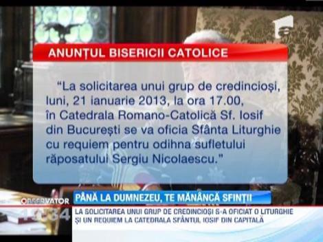 Biserica Catolica i-a facut slujbe de pomenire lui Sergiu Nicolaeascu. Biserica Ortodoxa Romana se revolta