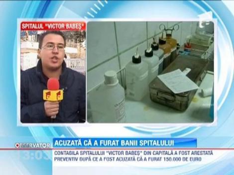 """Contabila Spitalului """"Victor Babes"""", arestata pentru furtul a 150.000 de euro din banii institutiei"""