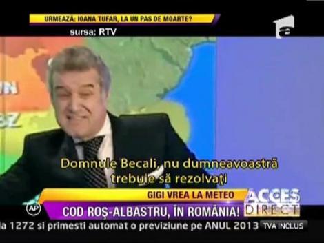 Gigi Becali s-a apucat sa prezinte vremea la un post de televiziune!