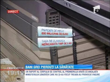 Jaf la Ministerul Sanatatii: Sumele incasate din taxa de claw-back nu au fost inregistrate in contabilitate. Caz anchetat de DNA