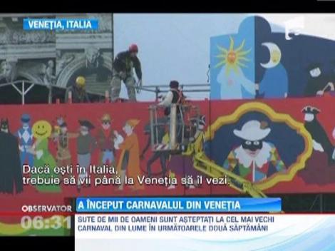 A inceput carnavalul de la Venetia! Mii de turisti s-au inghesuit sa vada parada care a dat startul distractiei
