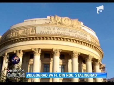 Orasul Volgograd revine, pentru o zi, la vechiul nume, Stalingrad