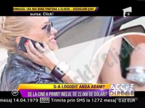 Anda Adam a primit un inel de 22.000 de euro!