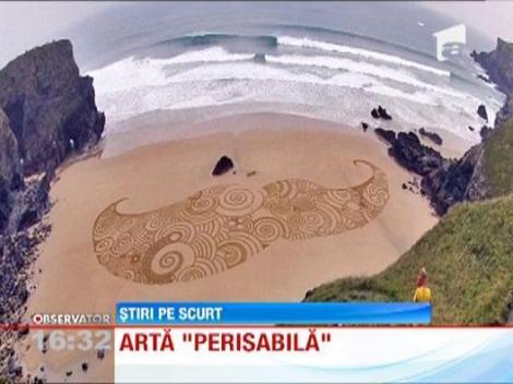 Un artist din Marea Britanie transforma nisipul in arta