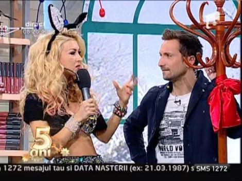 Andreea Balan, super-sexy in costum de iepuras