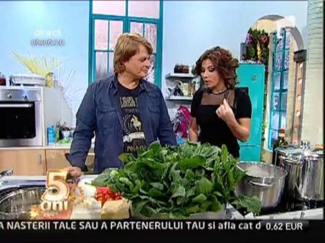 Cartofi la cuptor cu muguri de primavara