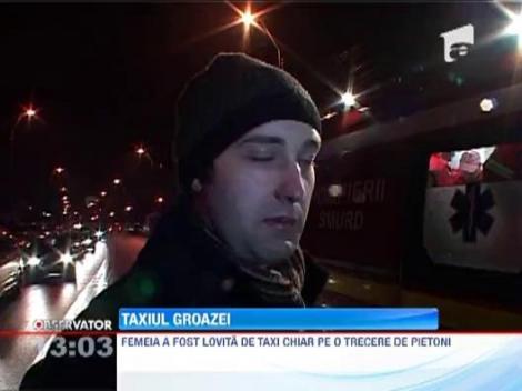 Baia Mare: O femeie a fost lovita in plin de un taximetrist grabit, in timp ce se afla pe trecerea pe pietoni