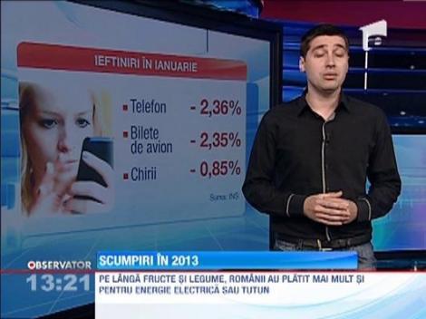 INS: Inflatia in luna ianuarie a depasit 1,3%