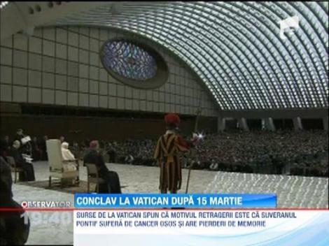UPDATE / Papa Benedict al XVI-lea, prima aparitie publica dupa anuntul demisiei