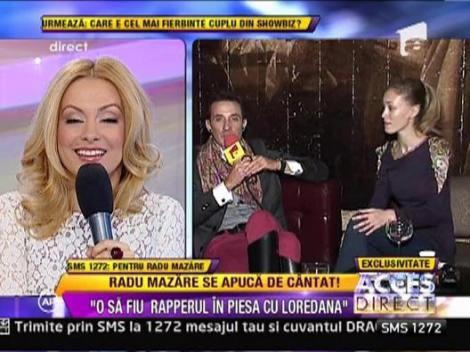 """Radu Mazare: """"O sa fiu rapper-ul in piesa cu Loredana"""""""