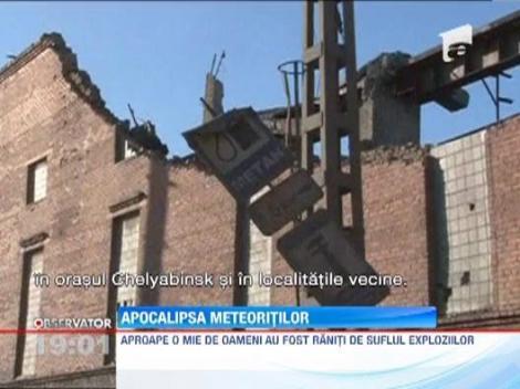 UPDATE Imagini ca-n filme! Ploaie de meteoriti in Rusia: Aproape 1.000 de persoane au fost ranite si 3.000 de cladiri avariate