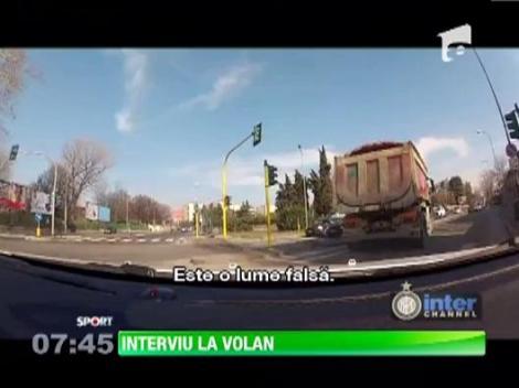 Cristi Chivu a dat interviu la volan!