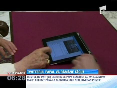 Contul de Twitter deschis de Papa Benedict al XVI-lea nu va mai fi folosit