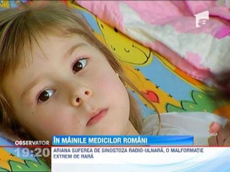 O fetita din Targoviste care suferea de o malformatie rara, salvata de medicii romani