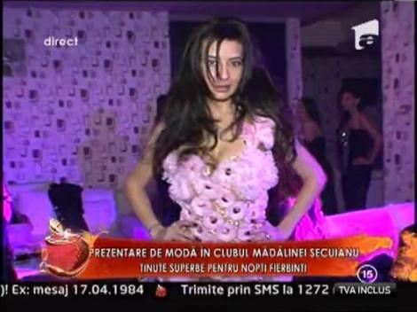 Prezentare de moda in clubul Madalinei Secuianu! Tinute superbe pentru nopti fierbinti