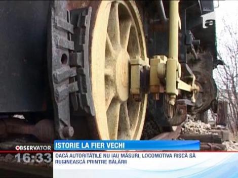 Constanta: O locomotiva cu abur ce a prins Primul Razboi Mondial risca sa ajunga la fier vechi