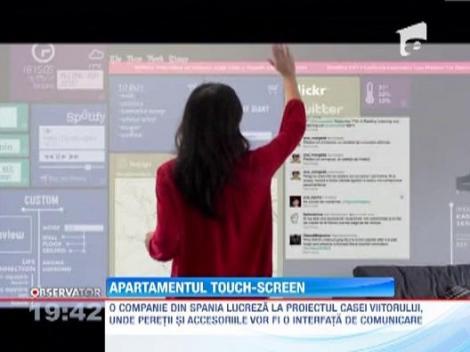 Apartamentul cu pereti touchscreen, o noua inovatie in domeniul locuintelor inteligente