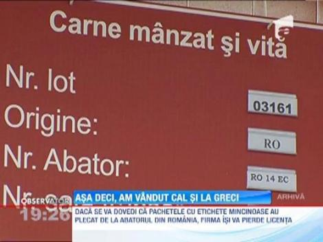 Grecii acuza un abator din Romania ca a etichetat gresit pachetele de carne congelata
