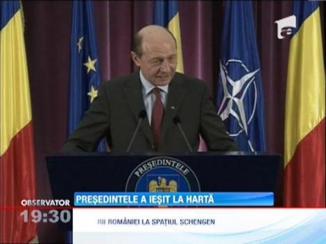Basescu sustine ca cel putin 7 state, in afara Germaniei, nu doresc Romania in Schengen