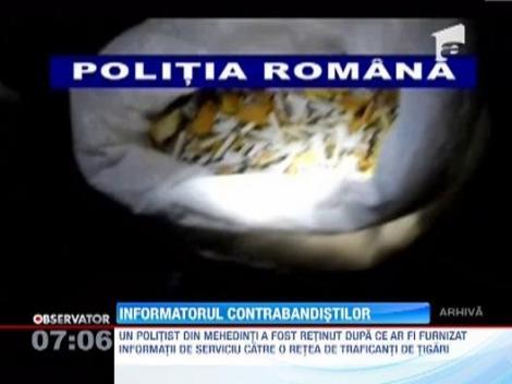 Un politist din Mehedinti a fost arestat dupa ce ar fi furnizat informatii de serviciu unei retele de traficanti de tigari