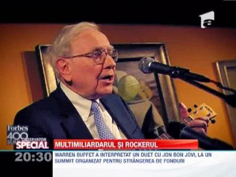 Miliardarul Warren Buffet, duet de exceptie cu Jon Bon Jovi